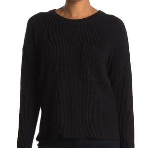 Madewell BNWT sweater Thompson chest pocket black